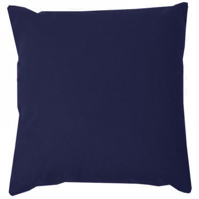 Coussin carré à personnaliser - CAPUCINE - Bleu marine