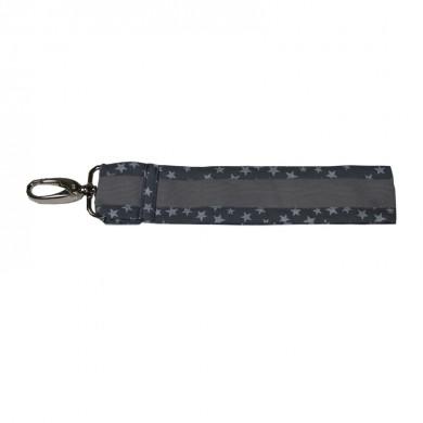 Petit porte clés à personnaliser CORENTIN - gris etoiles argentées