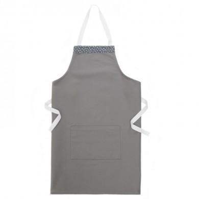 Tablier de cuisine personnalisable MARIE 4/6 ans et 8/10 ans – gris et étoiles argentées
