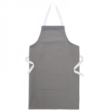 Tablier de cuisine personnalisable MARIE ADULTE – gris étoiles argentées