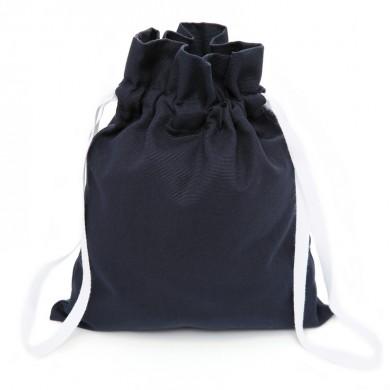 Sac à doudou, sac à goûter personnalisable - COLOMBE – bleu marine