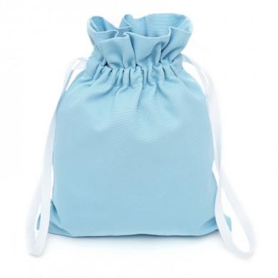 Sac à doudou, sac à goûter personnalisable - COLOMBE – bleu ciel