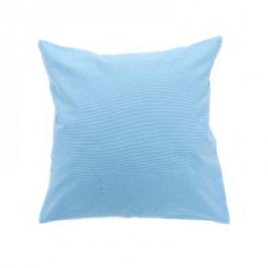 Coussin carré à personnaliser - CAPUCINE - bleu ciel