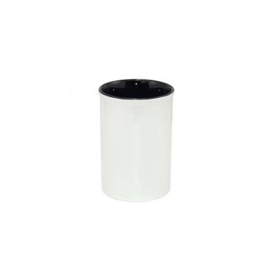 Pot / Vase à personnaliser GASTON - blanc intérieur noir