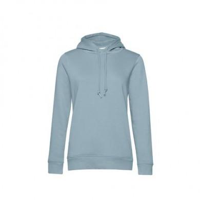 Sweat-Capuche Organic Femme -Bleu Brouillard