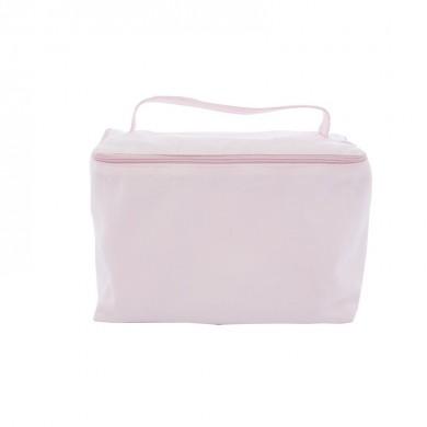 Trousse de toilette vanity à personnaliser  TESS – rose pâle