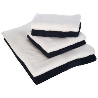 Serviette de bain personnalisée bleu 70x140