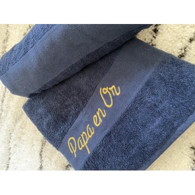 Serviette de plage personnalisée bleu