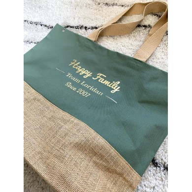 Sac Happy Family Personnalisable – vert olive