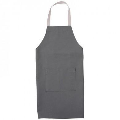 Tablier de cuisine personnalisable MARIE 4/6 ans et 8/10 ans – gris