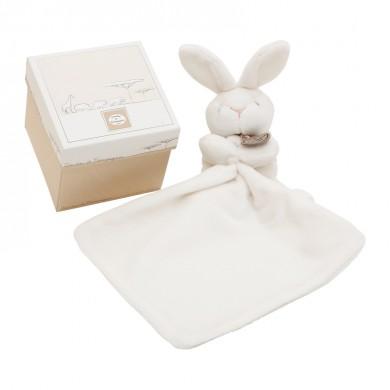 Coffret doudou lapin  – blanc