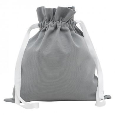 Sac à doudou, sac à goûter personnalisable - COLOMBE – gris