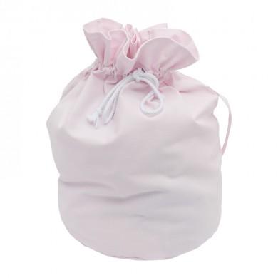 Sac à jouets en toile coton - William – TU - rose pâle