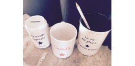 Mug, tirelire, pots ...